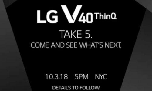 LG'nin Beş Kameralı Modeli V40 3 Ekim'de Duyurulacak